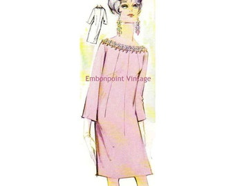Plus Size (or any size) Vintage 1969 Dress Pattern - PDF - Pattern No 144 Marcy