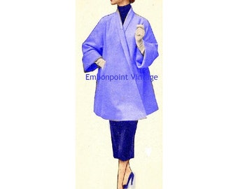 Plus Size (or any size) Vintage 1949 Jacket Sewing Pattern - PDF - Pattern No 66 Nadine