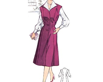 Plus Size (or any size) Vintage 1950s Dress Pattern - PDF - Pattern No 44: Julie