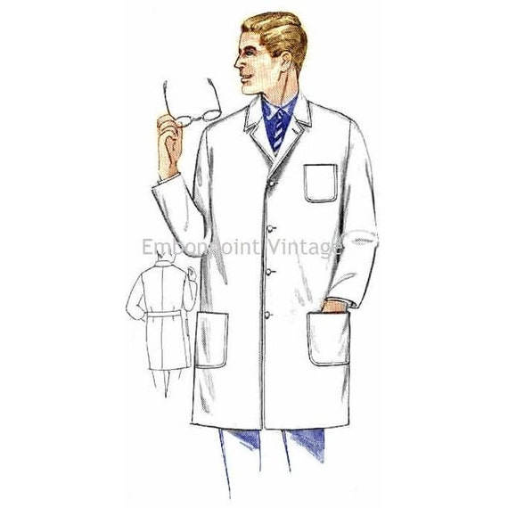 plus size or any size vintage 1969 men u0026 39 s lab coat