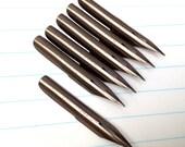 6 vintage George W Hughes pen nibs, Treasurer Pen, 6 unused vintage nibs. (Box not included).