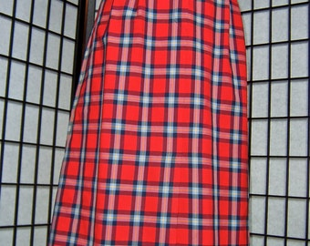 vintage 1960s Pendleton plaid wool skirt- large