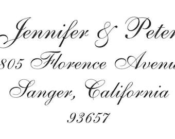 Exquisite Custom Return Address Stamp - Personalized Self Inking Stamper