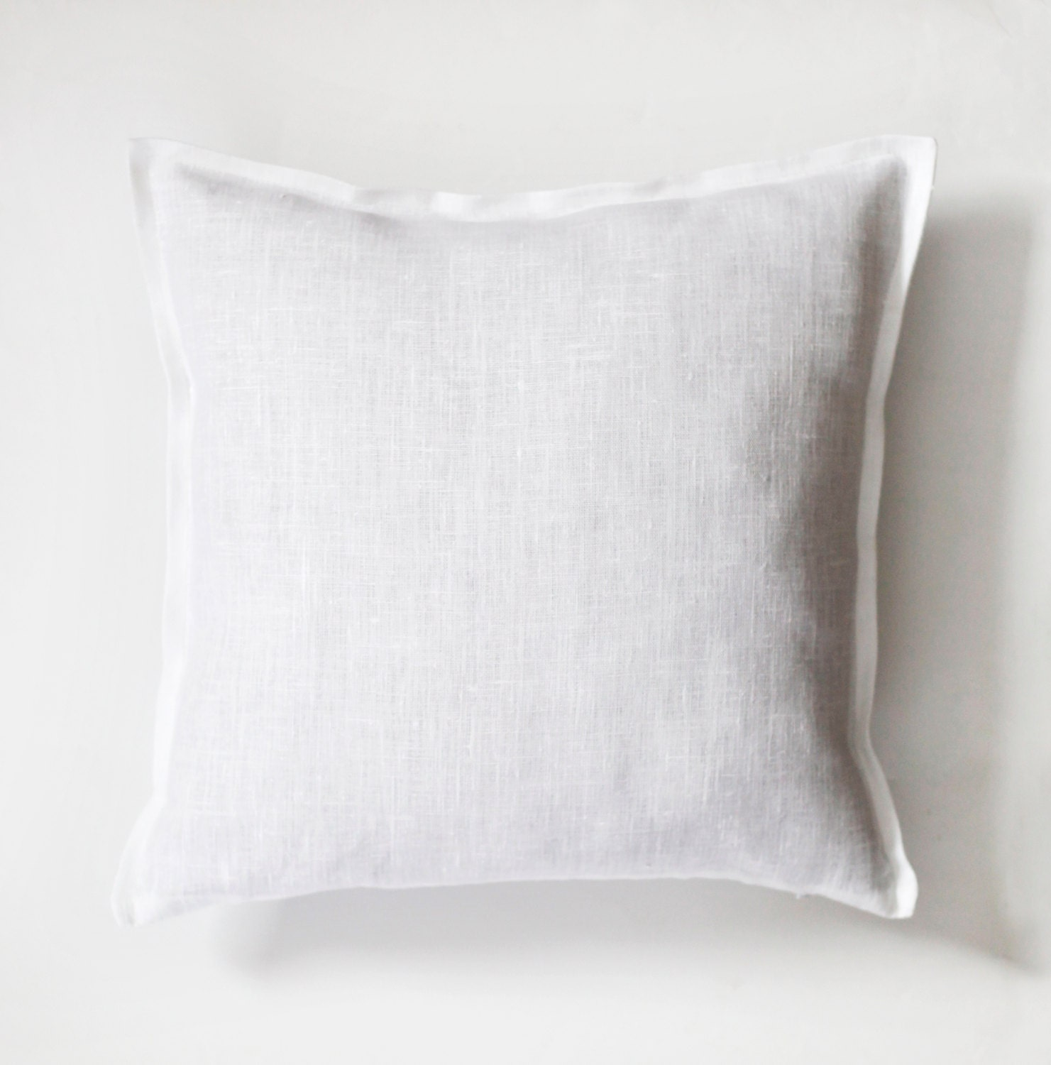 Throw Pillow Cover Measurements : White linen king size shams decorative pillow covers set of