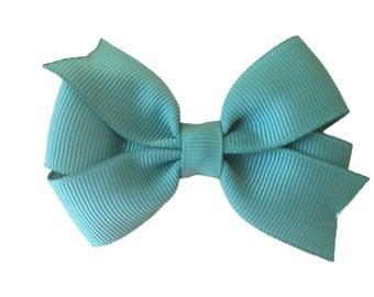 3 inch Sage green hair bow - sage bow, 3 inch bows, pinwheel bows, girls hair bows, girls bows, green bows, toddler bows, baby bows