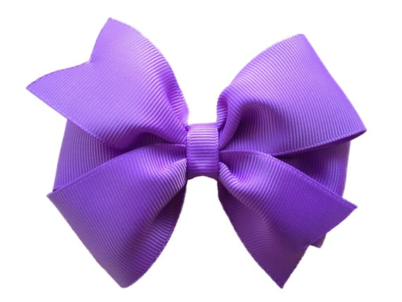 4 inch lilac hair bow - purple bow, lavender bow