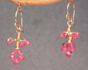 Petite Branch Earrings with choice of gemstone Guenevere 67