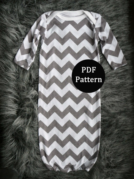 Baby Sewing Pattern Newborn Gown Pdf Pattern Easy By