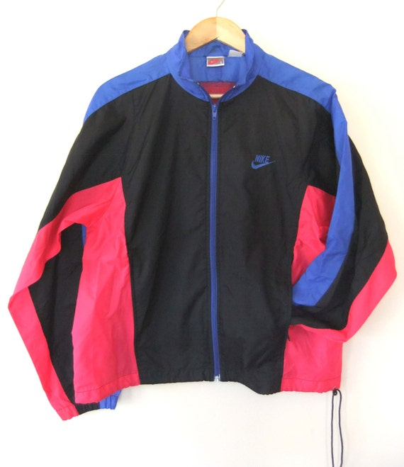 80s Nike Windbreaker Neon Hip Hop Throwback Track Jacket