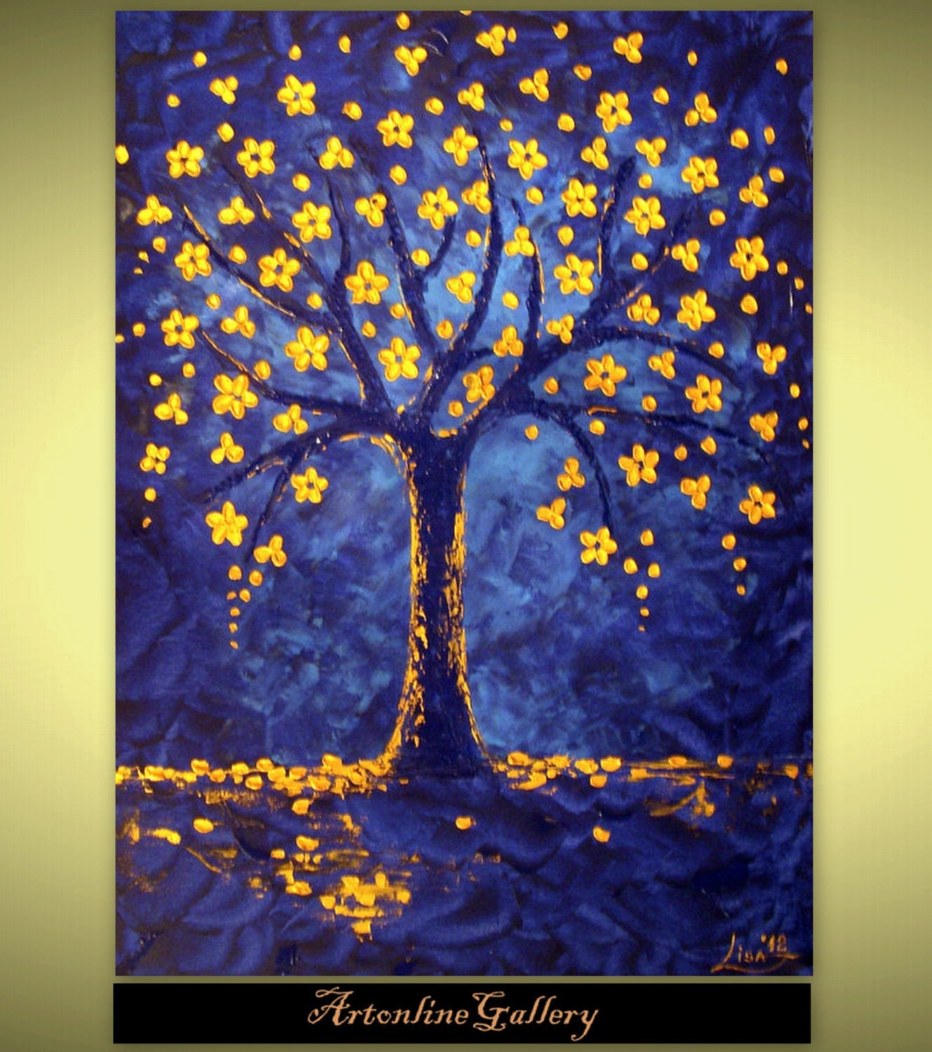 Tree Of Life Painting Large Size by ArtonlineGallery on Etsy