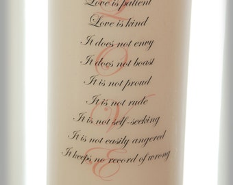 """Unity Candle With """"LOVE"""" Poem, wedding candles, weddings, wedding decorations"""