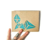 NEON GEOMETRY v2 Hand Cut Card