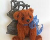 Classic miniature teddy bear Trisha. Mohair Teddy Bear. Artist Teddy Bear. Handmade OOAK