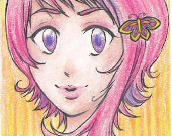 Cotton Candy - original artist trading card