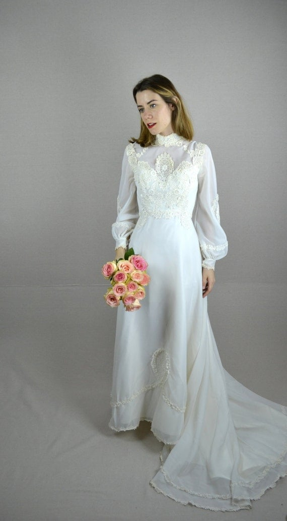 70s Wedding Dress 1970s Wedding Dress Pearl By