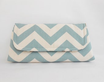 Robin Blue and CreamZigZag Chevron