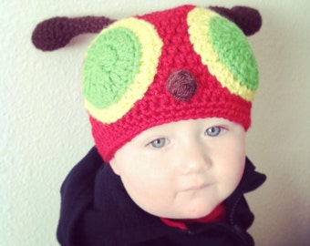 Crochet Hungry Caterpillar Inspired Hat