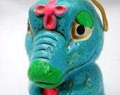 Vintage Crocodile Potpourri holder - scented ornament - Alligator
