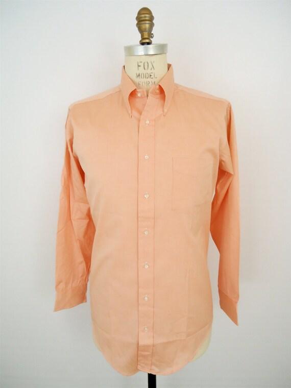 Sero Salmon Oxford Shirt Pastel Button Down Vintage Dress