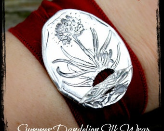 Yoga Jewelry Silk Wrap Bracelet Summer Dandelion