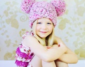 Kids Hat 12 Colors Pom Pom Hat Childrens Hat Girls Clothing Photo Prop Photography Prop Fun Winter Hat Whimsical Winter Beanie Girls Clothes