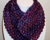 Purple Infinity Scarf - Neck Warmer