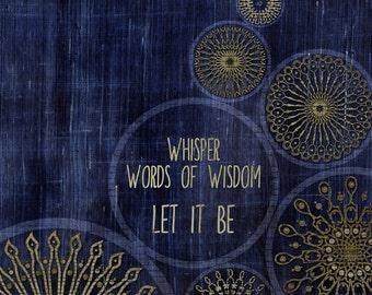 Let It Be / The Beatles  Art Print