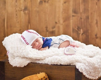 Newborn Baseball Hat (0-6 month),Baby Baseball Hat, Baby Boy Hat, Baby Baseball Beanie, Newborn Boy Baseball Hat,Newborn Photo Prop,Baby Boy
