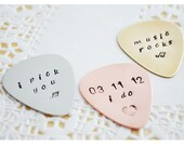 Groom Gift I Do Wedding - Custom Guitar Pick Customized Pick - Hand Stamped Groomsmen Gift - Father of the Bride