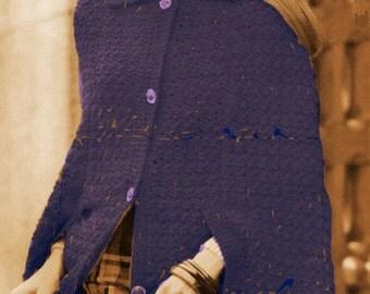 A BEST Vintage Town & Country Cape Wrap 357 PDF Digital Crochet Pattern