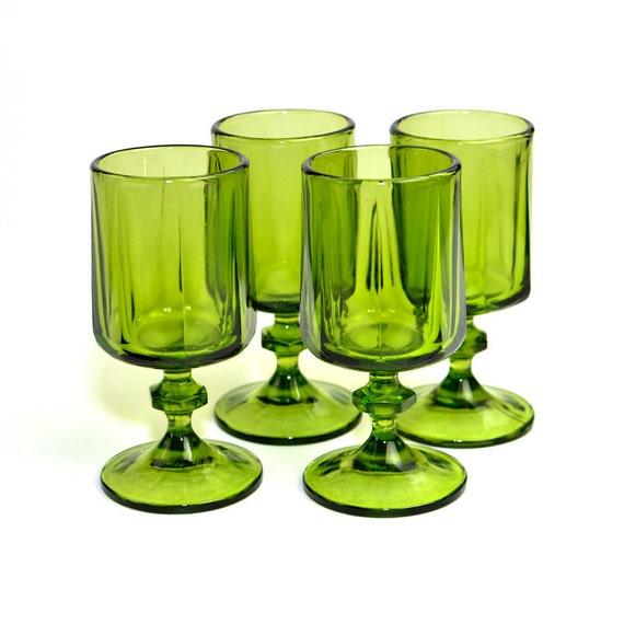 kitchen set emerald lime green goblets elegant emerald decor accent by