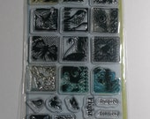 Butterflies and Birds Clear Acrylic Stamps Set - Gently Used Inkadinkado 98771
