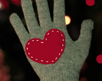 My heart is for you - gloves