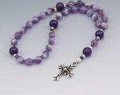 Anglican Prayer Beads Rosary - Purple Amethyst - Christian Prayer Beads - Ladies Rosary - Christian Gifts - Item # 757