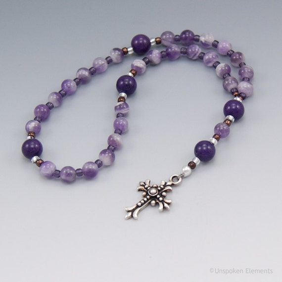 Anglican Prayer Beads Rosary Purple Amethyst Christian