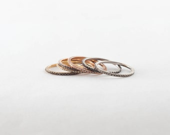 Micropave Diamond Ring, 14K Gold