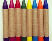 Set of 8 Eco-Friendly Soy and Beeswax Crayons