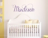 Nursery Custom Name Vinyl Wall Decal - Children's Vinyl Wall Art - Teen Vinyl Lettering