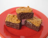 Peanut Butter Frosted Brownies - Clay Food for American Girl dolls