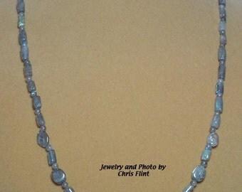 Simple, Sparkling LABRADORITE necklace - N070