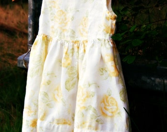 Baby Altered Couture, classic retro baby dress, country baby dress, linen baby dress, girly baby, boho baby, farmbaby dress