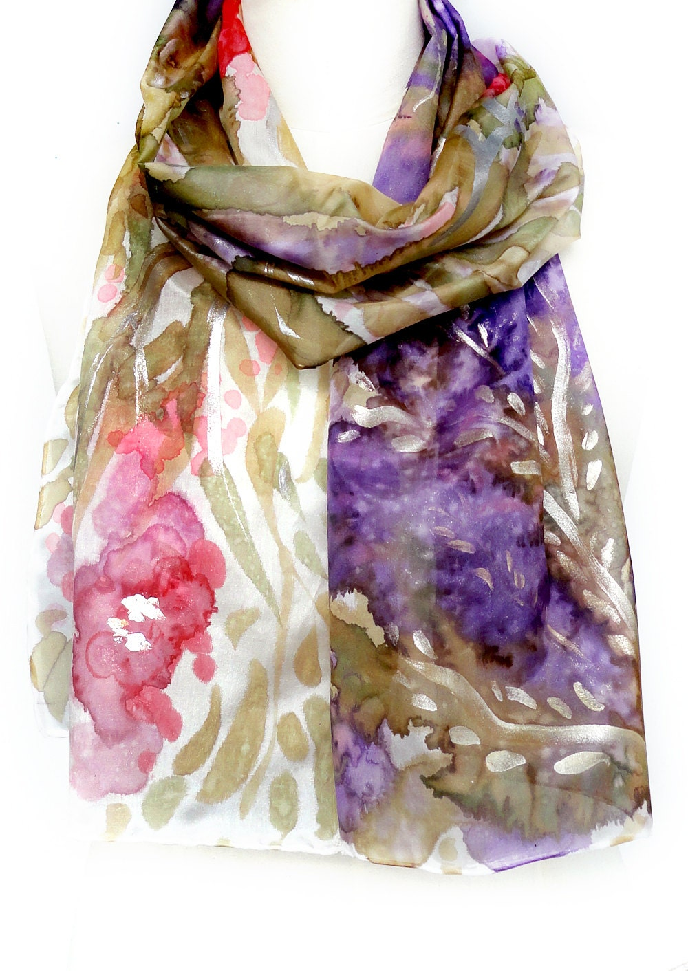 how to make hand painted silk scarves