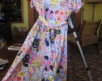 Ritz Carleton couture-Vintage Swiss cotton dress -Tat Saunders-1970s