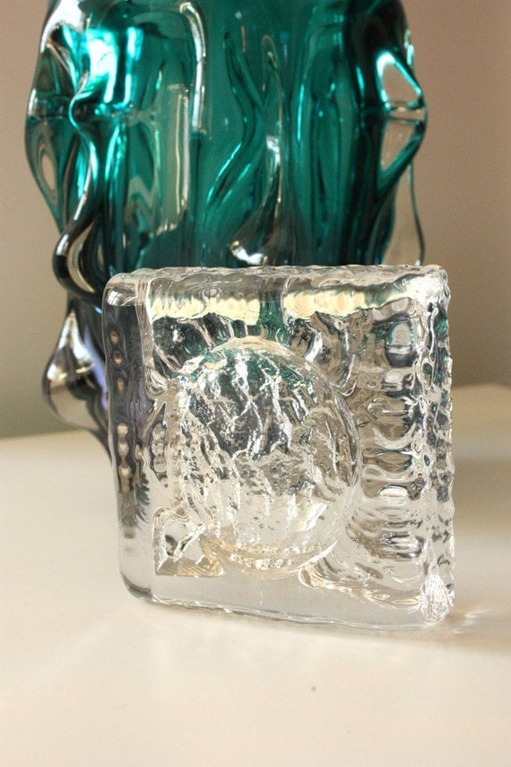 Vintage Kosta Boda Glass Dish Ice Like