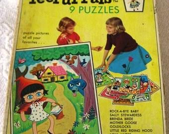 I967 Whitman PeePul Pals Puzzles Complete Set of 9