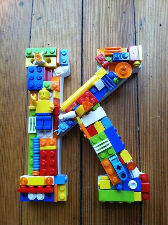 Custom Toy Brick Mosaic Letter K