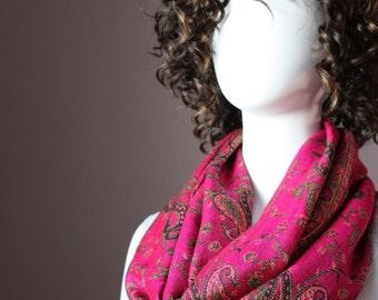 Magenta scarf, fall scarf, bright scarf