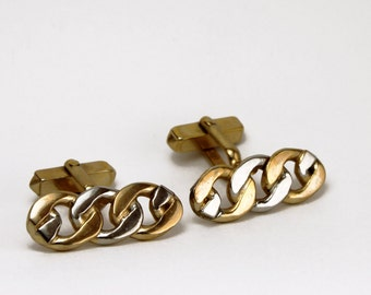 Gold and Silver Vintage Chainlink Cufflinks