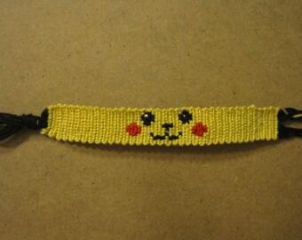 Pikachu Face Friendship Bracelet - Made to Order