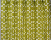 Artist Green White Modern Honeycomb Sydney Curtains - Rod Pocket - 84 96 108 or 120 Long by 25 or 50 Wide - Optional Blackout Lining